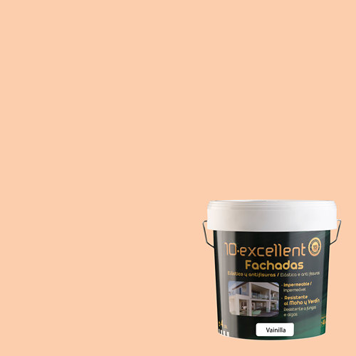 Pintura para fachadas elastica 10excellent vainilla mate 4l