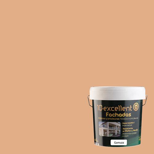 Pintura para fachadas elastica 10excellent gamuza mate 4l