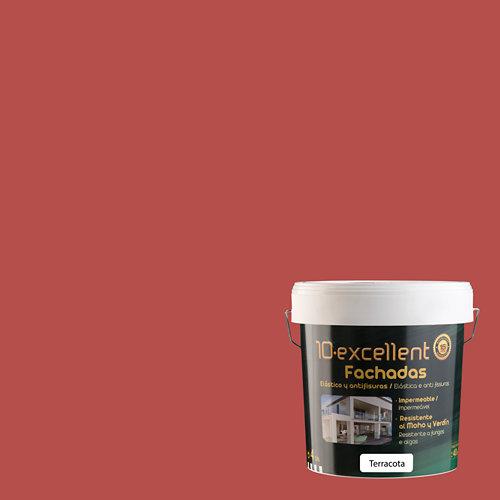 Pintura para fachadas elastica 10excellent terracota mate 4l