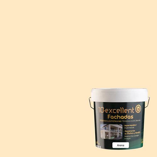Pintura para fachadas elastica 10excellent arena mate 4l