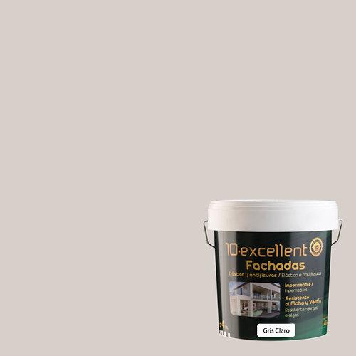Pintura para fachadas elast. 10excellent gris claro mate 4l