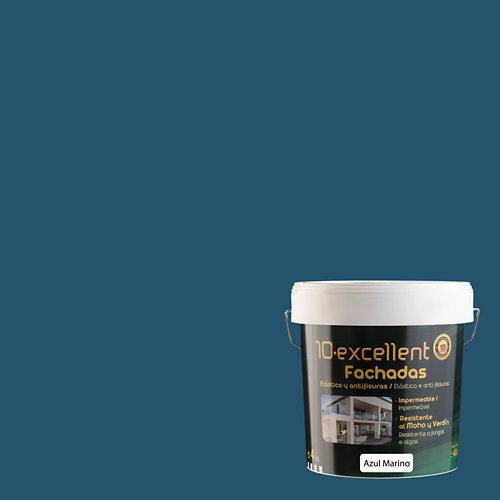 Pintura para fachadas elastica 10excellent azul marino 4l