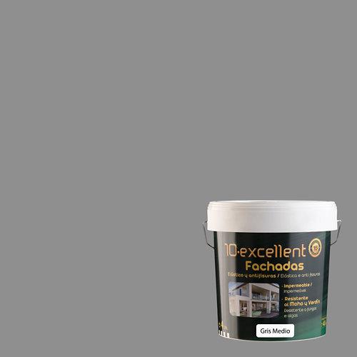 Pintura para fachadas elastica 10excellent gris medio 4l