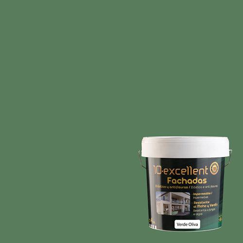 Pintura para fachadas elastica 10excellent verde oliva 4l
