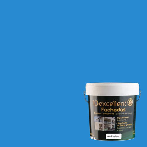 Pintura para fachadas elastica 10excellent azul indiano 4l