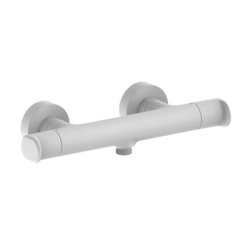 Grifo ducha termostático huber levity blanco mate