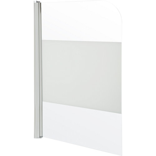 Mampara bañera quad 1 hoja 85 cm cromado serigrafiado
