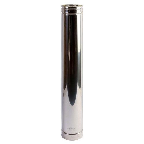 Tubo de acero inoxidable 100 mm de ø 0,98 cm