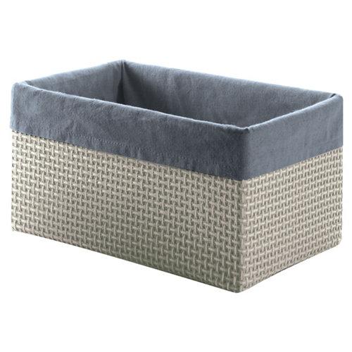 Cesta lavanda gris / plata 19x16.5 cm