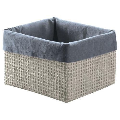 Cesta lavanda gris / plata 15x12 cm
