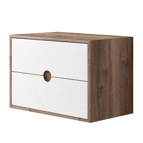 Mueble baño kompas roble 80 x 45 cm