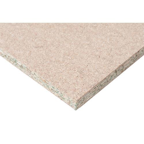 Tablero aglomerado en melamina hidrófugo de 122x244x1,6 cm (anchoxaltoxgrosor)