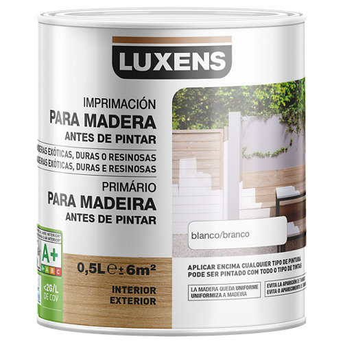 Imprimación para maderas de exterior luxens 0,5l