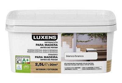 Imprimación para maderas de exterior LUXENS de 2,5L