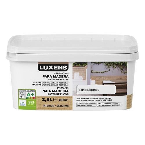 Imprimación para maderas de exterior luxens 2,5l