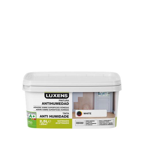 Pintura antihumedad luxens 2.5 l blanco