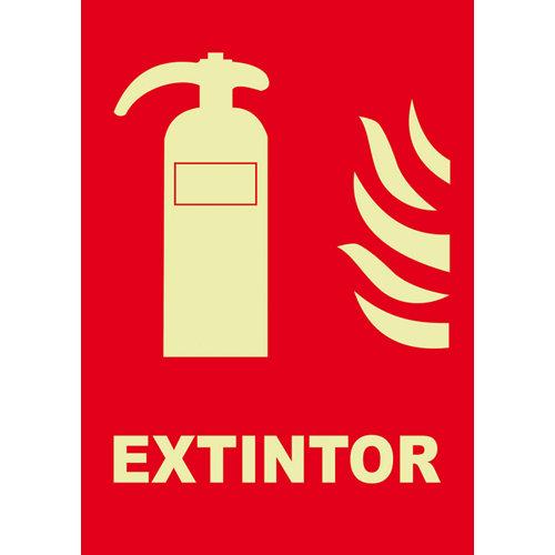 Cartel extintor 29.7 x 21cm