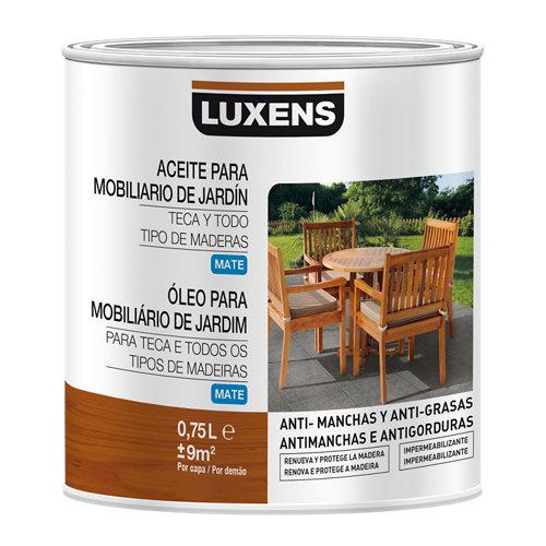 Aceite de teca para madera luxens 750 ml teca