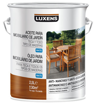 Aceite de teca para madera LUXENS 2.5l incoloro