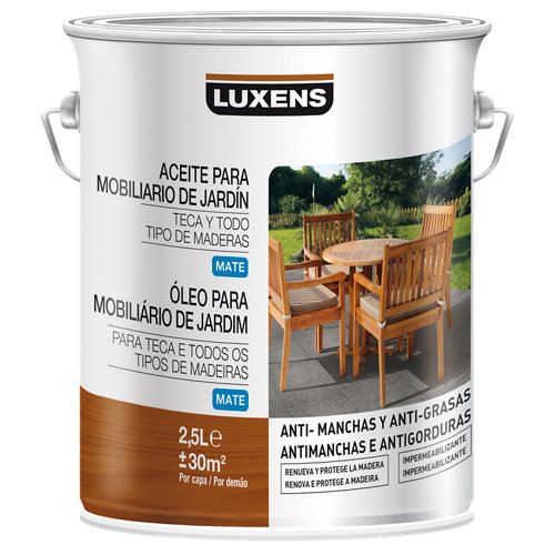 Aceite para teca luxens maderas exóticas 2,5l
