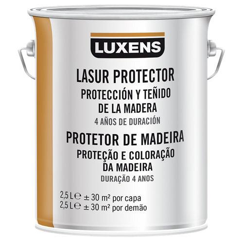 Protector madera exterior luxens satinado 2.5 l castaño