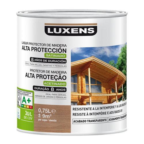 Protector madera exterior larga duración luxens satinado 750 ml cerezo