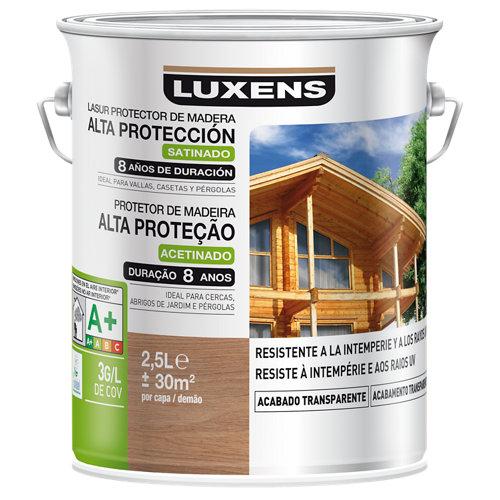 Protector madera exterior larga duración luxens satinado 2.5 l teca