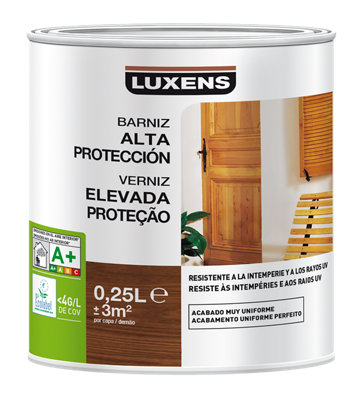 Barniz exterior LUXENS satinado 250 ml nogal