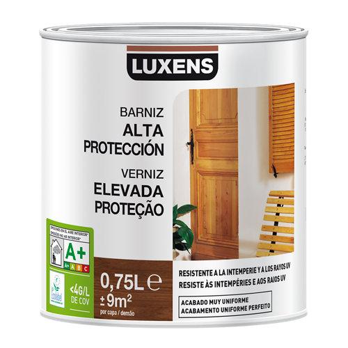 Barniz exterior luxens satinado 750 ml castaño