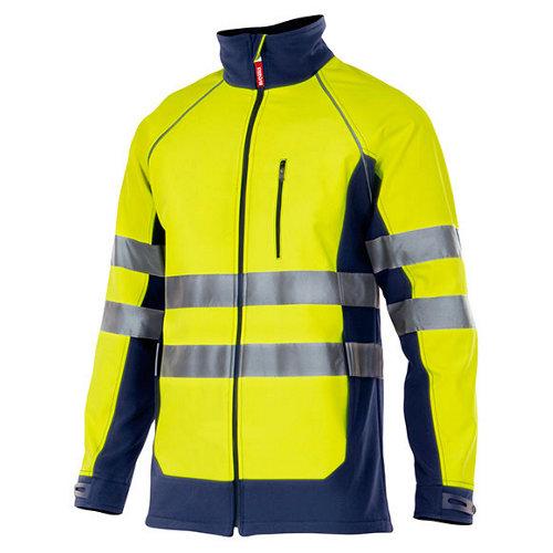 Chaqueta de trabajo azul y amarillo tl