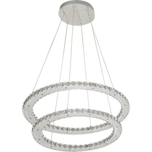 Lámpara de techo led shoshone transparente inspire 2 luces