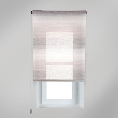 Estor enrollable translúcido tokyo gris de 204x250cm