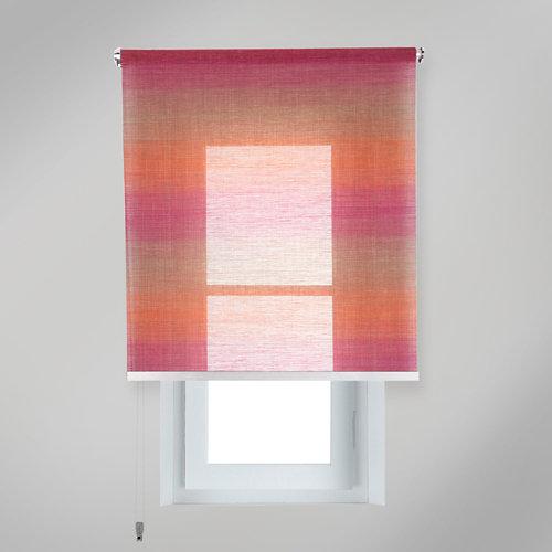 Estor enrollable translúcido tokyo tierra rojo de 139x230cm