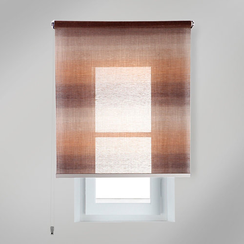 Estor enrollable translúcido tokyo vison marrón de 139x230cm