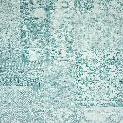 Papel pintado tnt collage verde para 5,3 m²