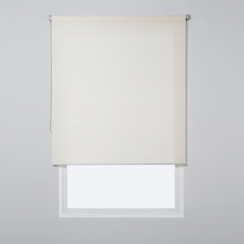 Estor enrollable translúcido city lino beige de 139x230cm
