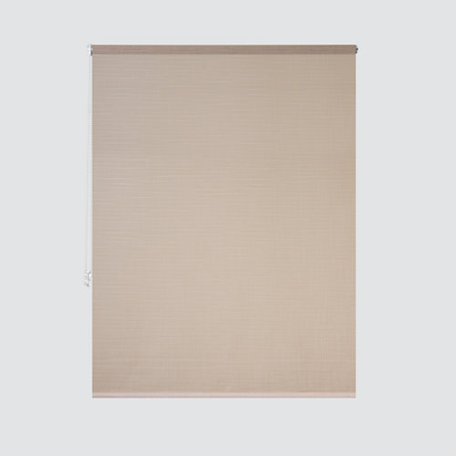 Estor enrollable panda lino beige de 94x250cm