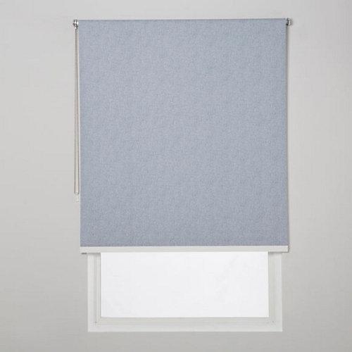 Estor enrollable opaco caleta azul de 139x230cm
