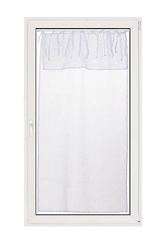 Visillo con motivo liso blanco de 90 x 60 cm · LEROY MERLIN