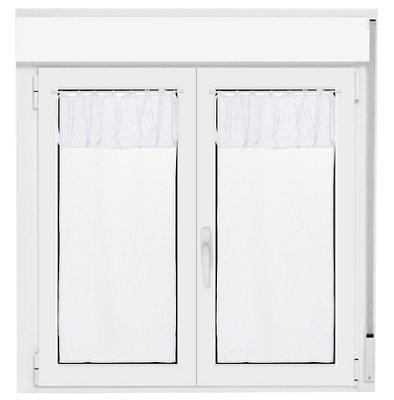 Visillo con motivo liso blanco de 210 x 90 cm · LEROY MERLIN