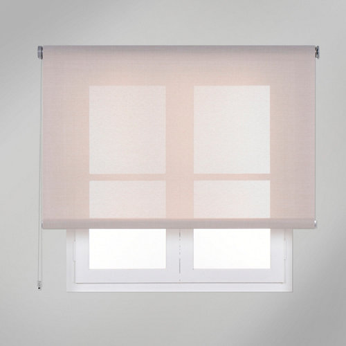 Estor enrollable screen texture beige de 220x250cm
