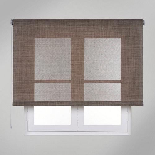Estor enrollable screen texture beige de 120x250cm