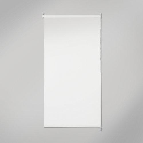 Estor enrollable opaco black out blanco de 135x250cm