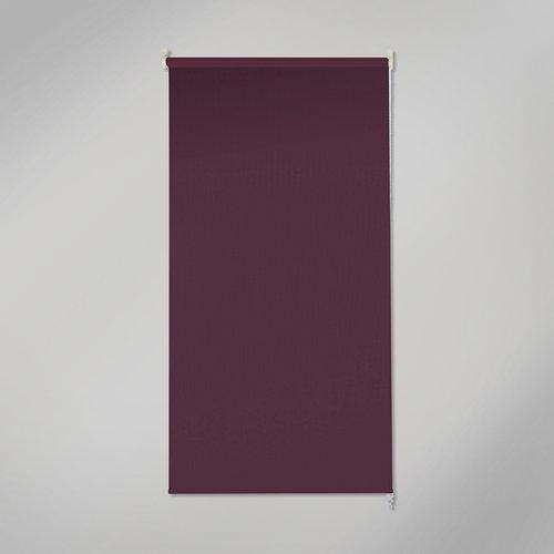 Estor enrollable opaco black out violeta de 135x250cm