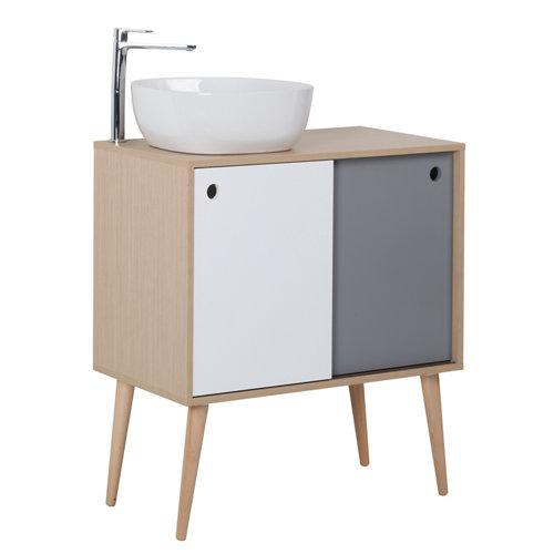 Mueble baño danes gris 80 x 45 cm