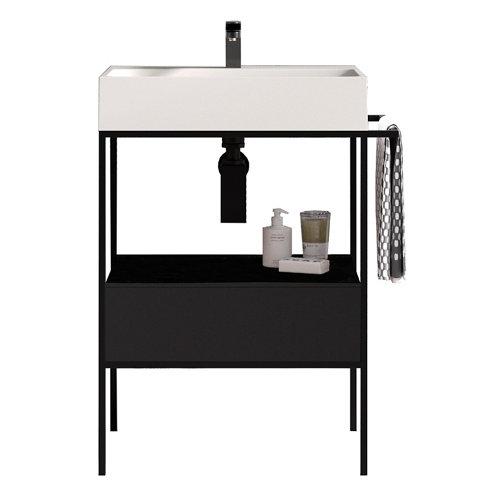 Mueble baño outline negro 67 x 45 cm