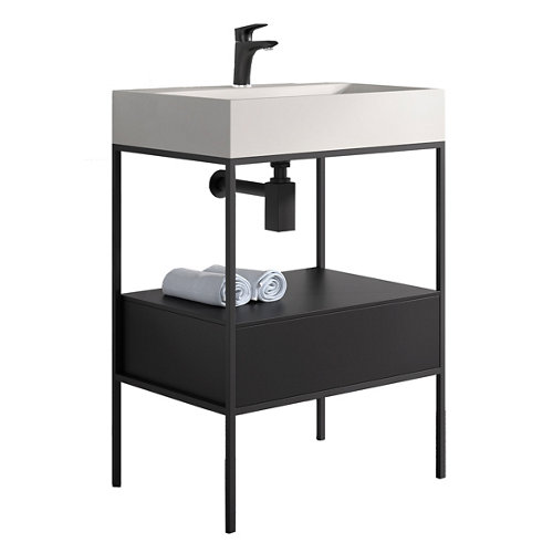 Mueble baño outline negro 60 x 45 cm
