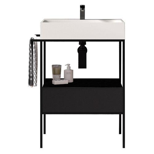 Mueble baño outline negro 70 x 45 cm
