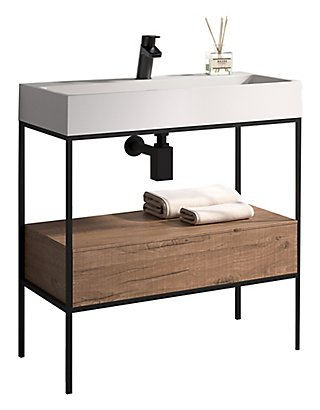 Mueble Baño Outline Marrón 80 X 45 Cm Leroy Merlin