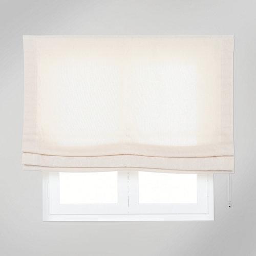 Estor plegable yute natural beige135x175 cm